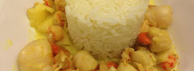 Saint Jacques à la crème de curry (3)