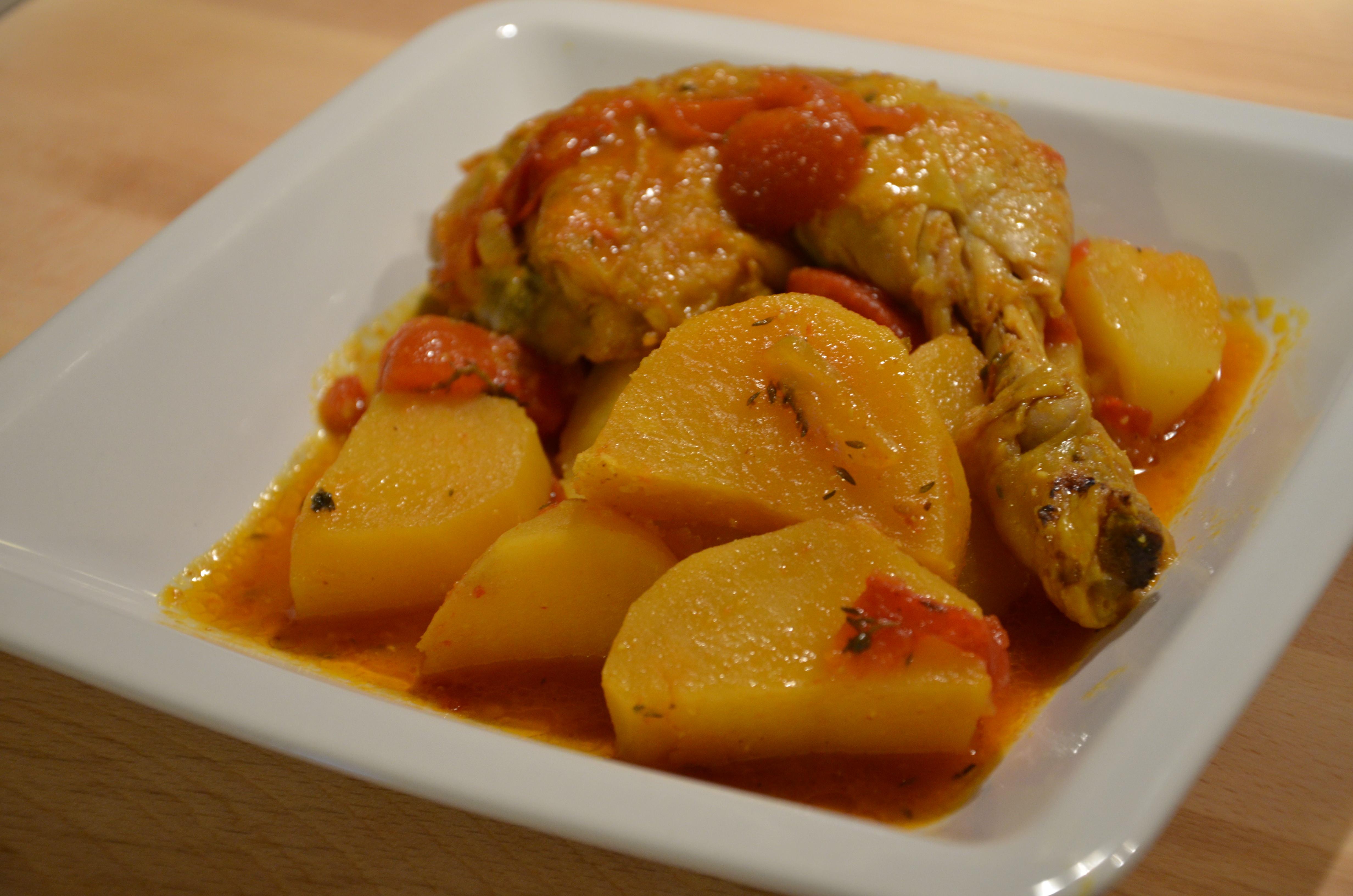 Cari de poulet sevencuisine for Recette poulet