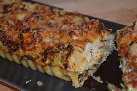tarte aux blancs de poulet et brocolis