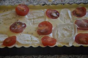 Tarte chevre et tomates
