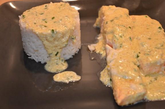 pavés de saumon tandoori massala