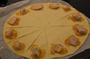 croissant foie gras