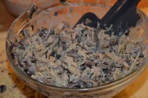 farce aux champignons