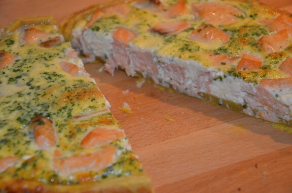 quiche au saumon